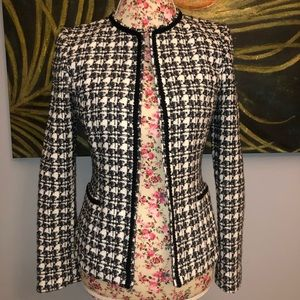 Tahari Luxe Tweed Black and White Blazer